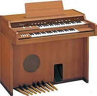 "photo:Christened the ""Electone"", our D-1 was released in December 1959 as an electronic organ with an all-transistor design."