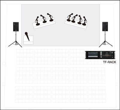 Compact system for conference/corporate events